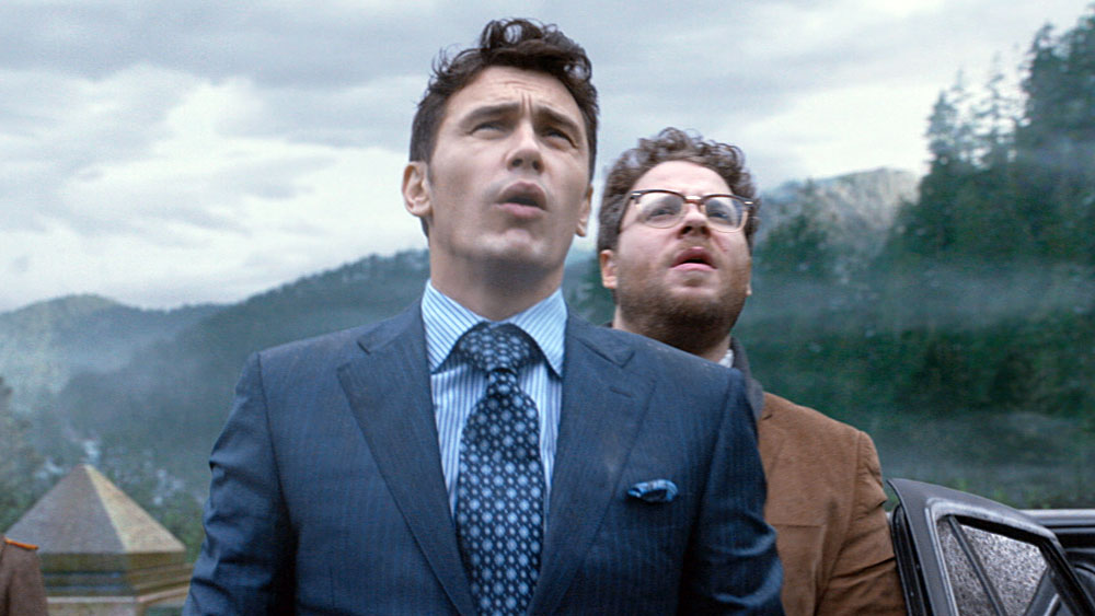 James Franco and Seth Rogen are shocked—shocked!—in 'The Interview' one of many works of art to cause international political incidents in the last month. photo: courtesy S. Rogen/E. Goldberg