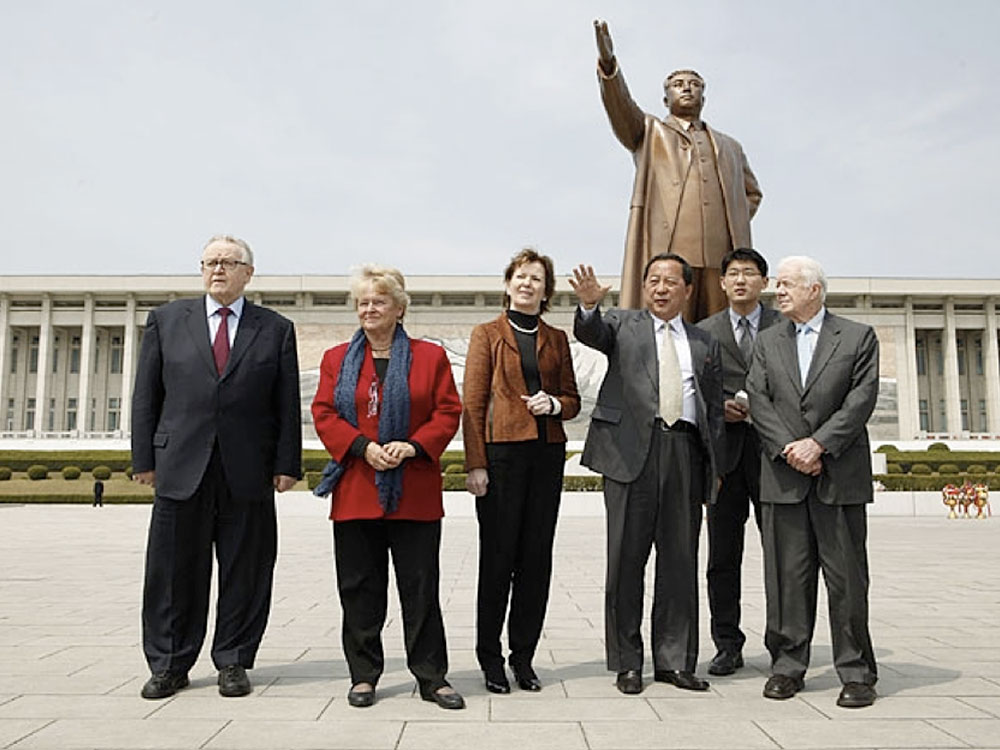 Former-President Carter and his wife visit N. Korea in 1994 and got N. Korean President Kim to freeze his nuclear program. photo: courtesy J. Carter