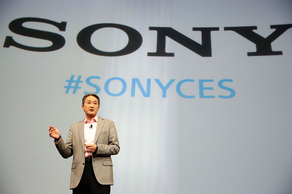 Sony's CEO Kazuo Hirai addressed the international imbroglio in Las Vegas January 5, 2015. photo: courtesy AP Photo/Jae C. Hong